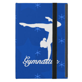 Gymnastics Girl Blue Stars iPad Mini Covers