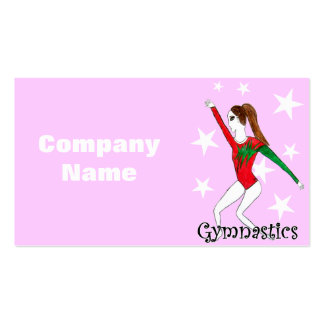 Gymnastics girl business cards