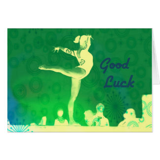 Gymnastics Good Luck Card