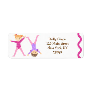 Gymnastics Gymnast return address labels
