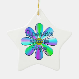 Gymnastics Happy Ceramic Star Decoration