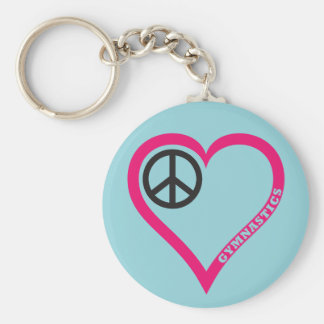 Gymnastics  Heart Keychain