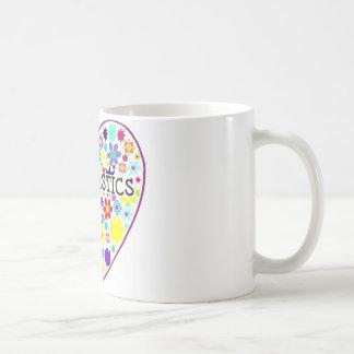 Gymnastics Heart with Flowers Coffee Mug