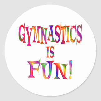 Gymnastics is Fun Classic Round Sticker
