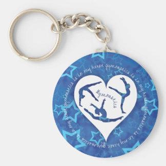 Gymnastics is in my Heart Keychain