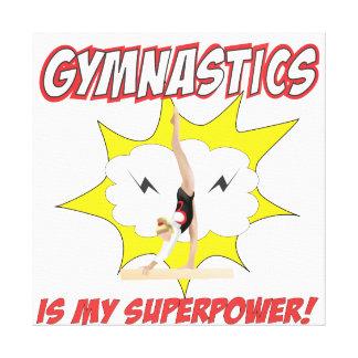 Gymnastics is my Superpower! Canvas Print