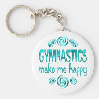 Gymnastics Make Me Happy Basic Round Button Key Ring