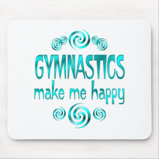 Gymnastics Make Me Happy Mouse Pad