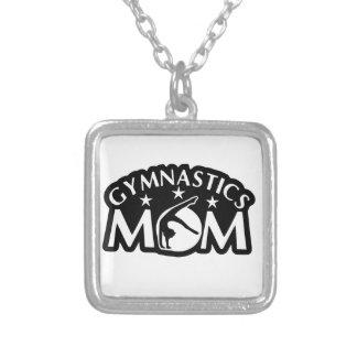 Gymnastics_Mom Silver Plated Necklace
