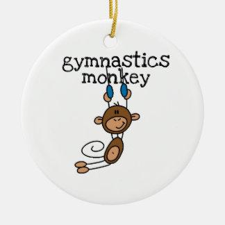 Gymnastics Monkey Ceramic Ornament