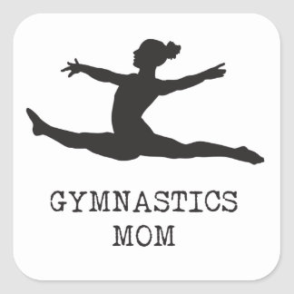 Gymnastics Mum Square Sticker