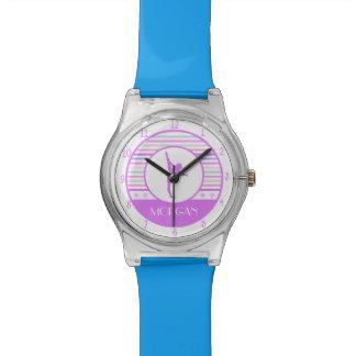 Gymnastics Pastel Horizontal Stripes w/ Monogram Watch
