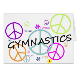 Gymnastics Peace Signs Greeting Card