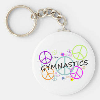 Gymnastics Peace Signs Key Ring