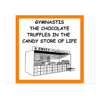 gymnastics postcard