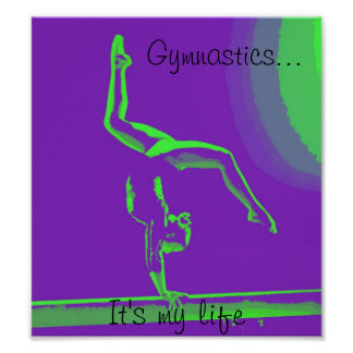 "Gymnastics poster ""It's my life"""