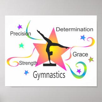 Gymnastics - Precision Strength Determination Grac Poster