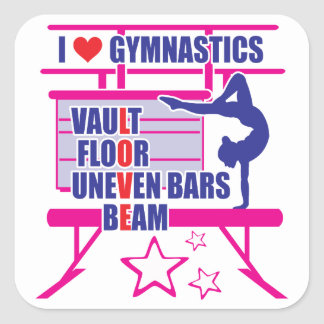Gymnastics Square Sticker