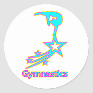 Gymnastics Star Classic Round Sticker