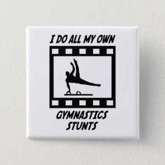 Gymnastics Stunts 15 Cm Square Badge