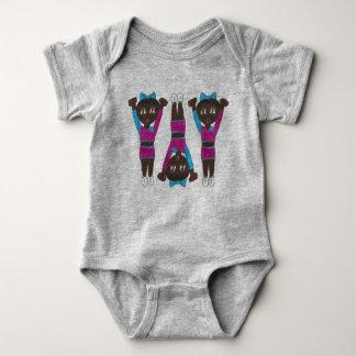 Gymnastics Tumbling Cartwheel Acro Acrobatics Baby Bodysuit