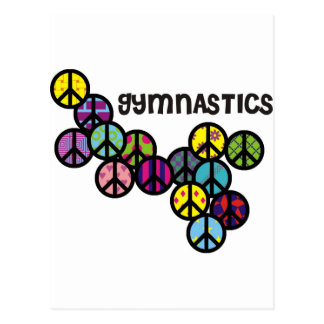 Gymnastics with Peace Sign Fill Postcard
