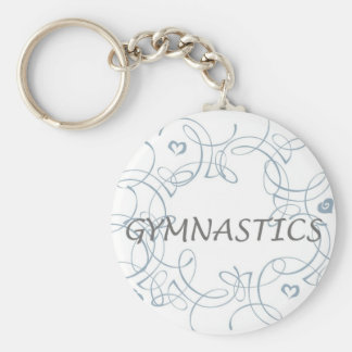 Gymnastics with Swirl Key Ring