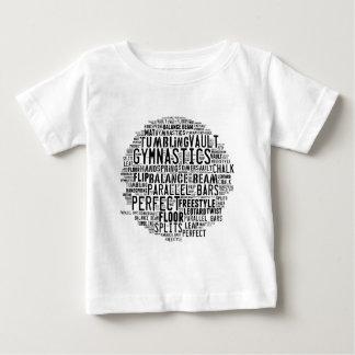 Gymnastics Word Cloud Baby T-Shirt