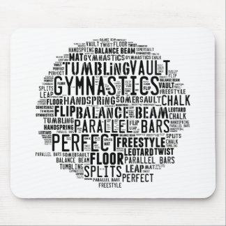 Gymnastics Word Cloud Mouse Pad
