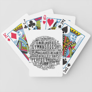 Gymnastics Word Cloud Tumbling Bicycle Playing Cards