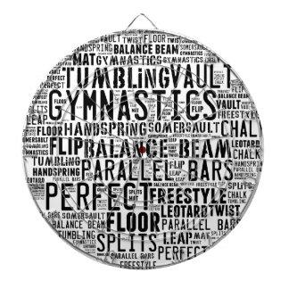 Gymnastics Word Cloud Tumbling Dartboard