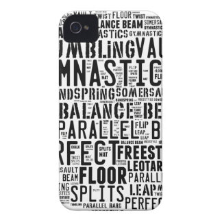 Gymnastics Word Cloud Tumbling iPhone 4 Cover