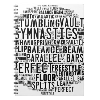 Gymnastics Word Cloud Tumbling Notebooks