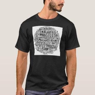 Gymnastics Word Cloud Tumbling T-Shirt