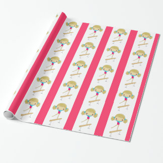 Gymnastics wrapping paper
