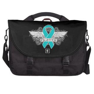 Gynecologic Cancer Fighter Wings Laptop Messenger Bag