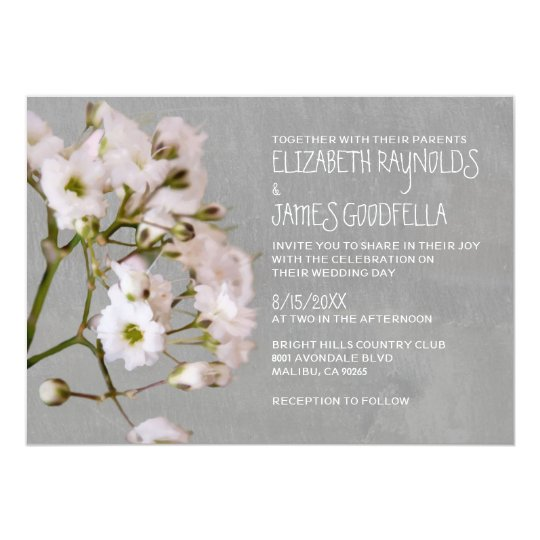 Gypsophilia Wedding Invitations
