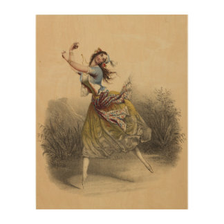 Gypsy Ballerina Wood Wall Art Wood Prints