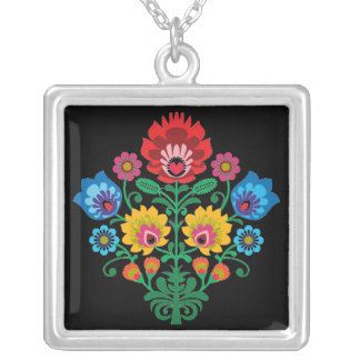 Gypsy Bouquet Silver Plated Necklace