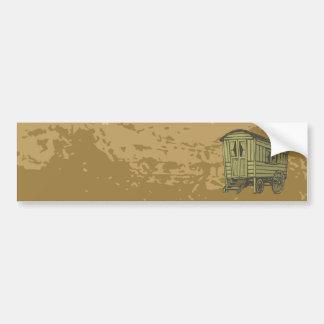 Gypsy caravan wagon bumper sticker