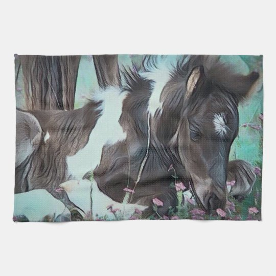 Gypsy Cob Foal Tea Towel