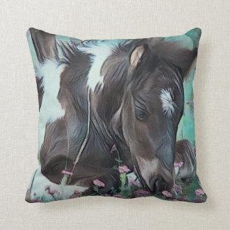 Gypsy Cob Foal Throw Pillow
