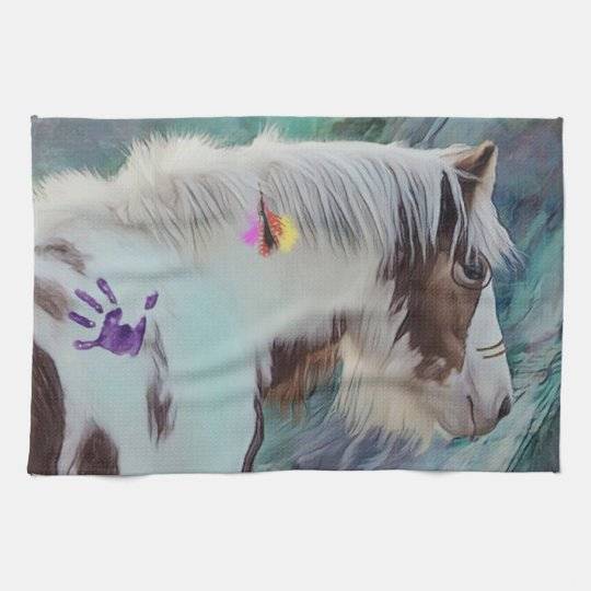 Gypsy Cob Indian Paint Tea Towel