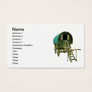 Gypsy door detail business card