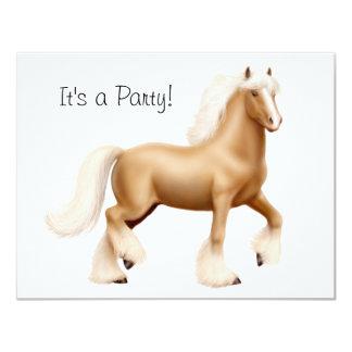 """Gypsy Draft Horse ow 4.25"""" X 5.5"""" Invitation Card"""