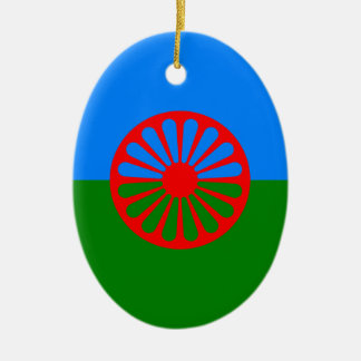 Gypsy flag ceramic ornament