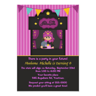 Gypsy Fortune Teller Birthday 13 Cm X 18 Cm Invitation Card