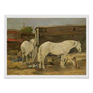Gypsy Horses, c.1885-90 (oil on canvas) Poster