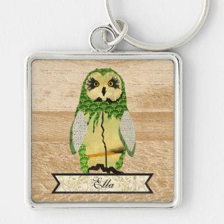 Gypsy Jade Owl Persolized Keychain