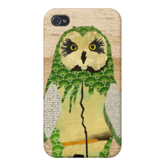 Gypsy Jade Owl Personalized i iPhone 4 Covers